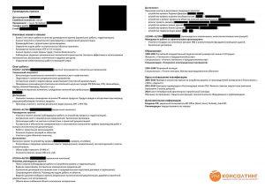 Пример составления резюме на русском языке, ИМ Консалтинг, руководитель проектов, строительство